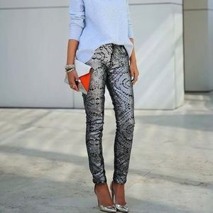 7 For All Mankind Sequins Skinny Pants
